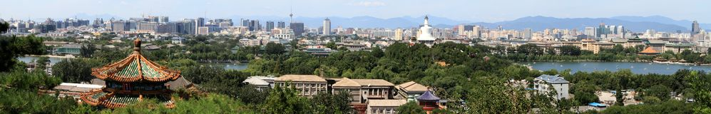 The Skyline of Beijing Royalty Free Stock Photography