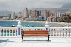 Skyline Benidorm royalty free stock photography