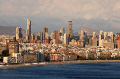 Skyline of Benidorm, Spain Royalty Free Stock Images