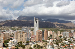 Skyline of Benidorm, Spain Stock Photography