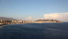 Skyline of Benidorm, Spain Royalty Free Stock Photography