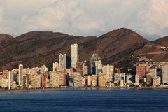 Skyline of Benidorm, Spain Royalty Free Stock Photos
