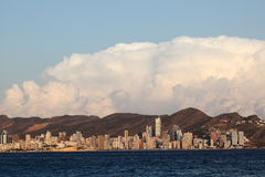 Skyline of Benidorm, Spain Royalty Free Stock Image