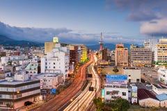 Skyline Beppu Japan lizenzfreie stockfotos