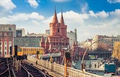 Urban Berlin, Germany. Skyline of Berlin City Centre, the capital of Germany royalty free stock image