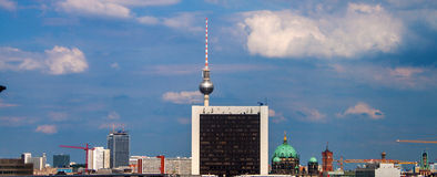 Skyline of Berlin Royalty Free Stock Photography