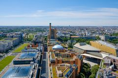 Skyline of Berlin, Germany - city center Royalty Free Stock Images