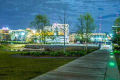Skyline of Birmingham Alabama from Railroad Park Royalty Free Stock Photo