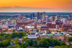 Skyline Birminghams, Alabama, USA stockbilder