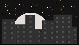 Skyline bis zum Nacht Lizenzfreie Stockfotografie