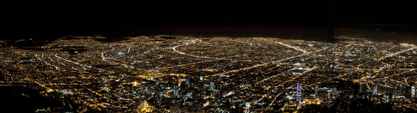 Skyline of Bogota, Colombia. Panoramic picture of the skyline of Bogota, Colombia, taken at night Stock Photography