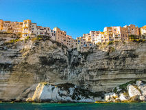 Skyline of Bonifacio, Corsica Royalty Free Stock Images