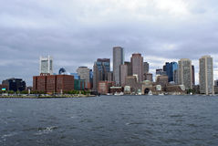 Skyline from boston harbor Stock Photography