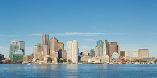 Skyline of Boston, Massachusetts Royalty Free Stock Images