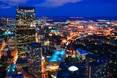 Boston at Night royalty free stock photography