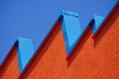 Skyline. A brightly colored building that makes for a interesting skyline Royalty Free Stock Photography