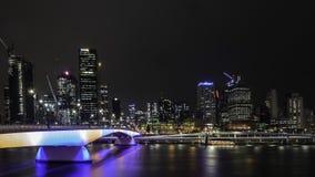 Brisbane Skyline at night royalty free stock photo