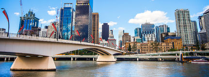 Skyline of Brisbane Queensland Royalty Free Stock Photo