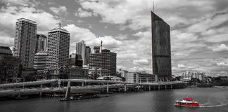 Skyline of Brisbane Queensland Royalty Free Stock Images