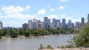 Skyline Brisbane Zoom stock video