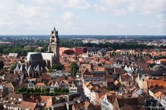 Skyline in Bruges Royalty Free Stock Images