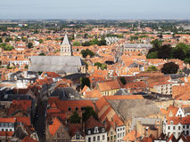Skyline in Bruges Royalty Free Stock Photo