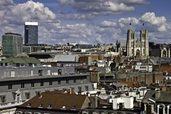 Skyline of Brussels Royalty Free Stock Photo