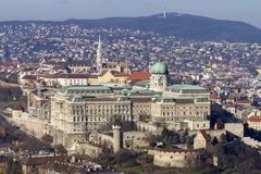 Royal Palace of Buda in Budapest stock photos