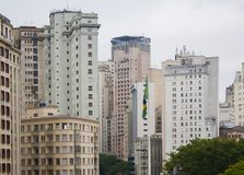 skyline of building deteriorated in downtown sao paulo Royalty Free Stock Photo