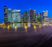 Skyline building of Singapore in twilight time Royalty Free Stock Image