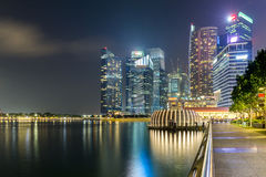 Skyline building of Singapore in twilight time Stock Photography