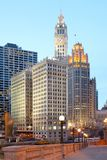 Skyline of buildings at downtown Chicago Stock Photos