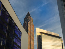 Skyline of business buildings in the exhibition site of Frankfur. Skyline of office buildings in the exhibition site of Frankfurt, Germany Stock Photography