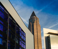 Skyline of business buildings in the exhibition site of Frankfur. Skyline of office buildings in the exhibition site of Frankfurt, Germany Royalty Free Stock Photography
