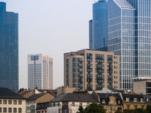 Skyline of business buildings in Frankfurt, Germany, in the morn Royalty Free Stock Image