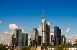 Skyline of business buildings in Frankfurt, Germany Stock Photo