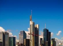 Skyline of business buildings in Frankfurt, Germany. Skyline of office buildings in the centre of Frankfurt, Germany Royalty Free Stock Photography