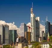 Skyline with business buildings in Frankfurt, Germany. Skyline with office buildings in the centre of Frankfurt, Germany Royalty Free Stock Photo