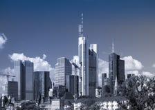 Skyline of business buildings in Frankfurt, Germany. Skyline of office buildings in the centre of Frankfurt, Germany Stock Images