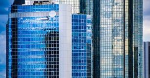 Skyline of business buildings in Frankfurt, Germany Stock Photo