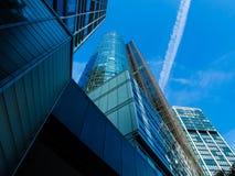Skyline of business buildings in Frankfurt, Germany Royalty Free Stock Photos