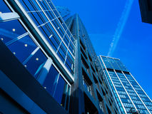 Skyline of business buildings in Frankfurt, Germany Stock Photography