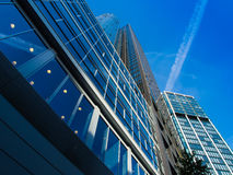 Skyline of business buildings in Frankfurt, Germany Royalty Free Stock Photography