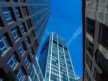 Skyline of business buildings in Frankfurt, Germany Royalty Free Stock Photo