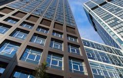 Skyline of business buildings in Frankfurt, Germany Stock Photos