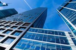 Skyline of business buildings in Frankfurt, Germany Stock Images
