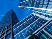 Skyline of business buildings in Frankfurt, Germany Royalty Free Stock Photo