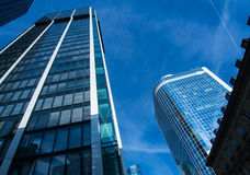 Skyline of business buildings in Frankfurt, Germany Stock Images