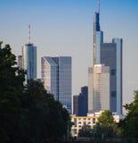 Skyline of business buildings in Frankfurt, Germany Stock Image