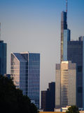 Skyline of business buildings in Frankfurt, Germany Royalty Free Stock Image